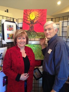 Phil Ponder and me April 2013 at our art exhibit