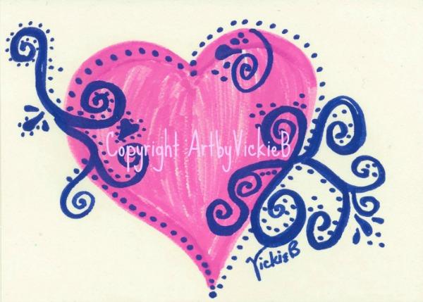 Heartwish Swirls Pen & Ink