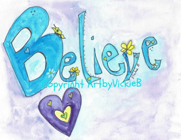 Believe watercolor with pen & ink