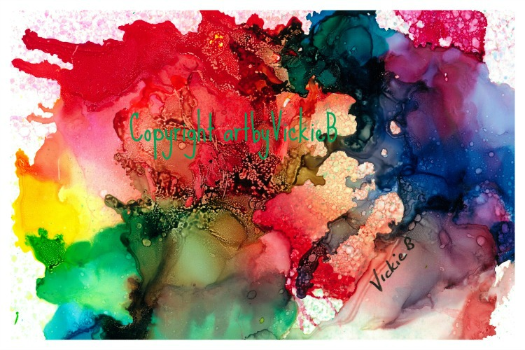 Freedom to Create Alcohol Ink on Yupo paper