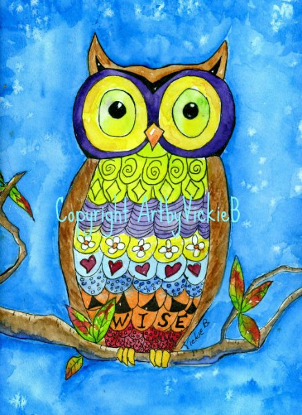 Wisse Old Owl watercolor and zentanagle final resized SMALLER cropped wmNov 2014