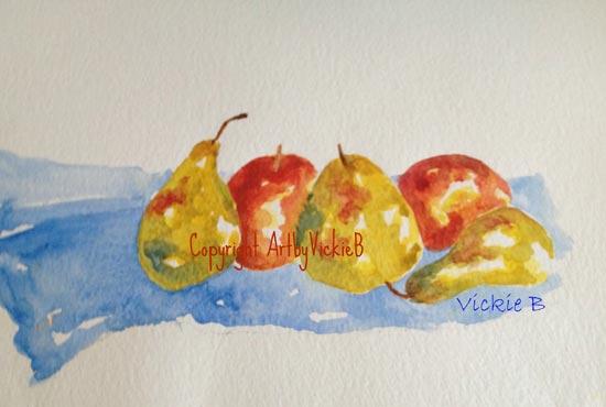 Apple & Pear still life