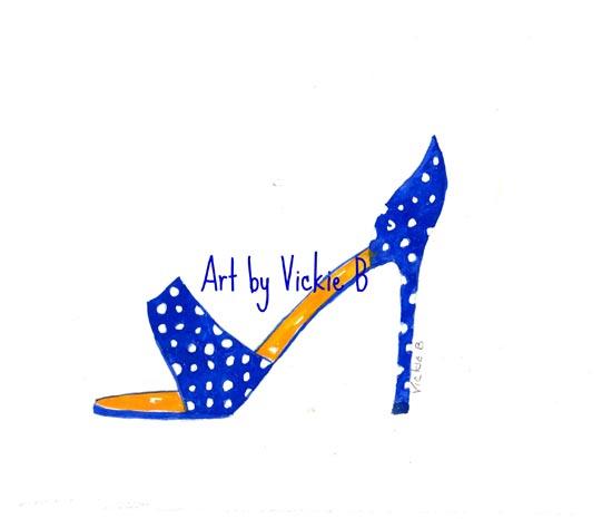 Blue Jasmine PolkaDot Heel