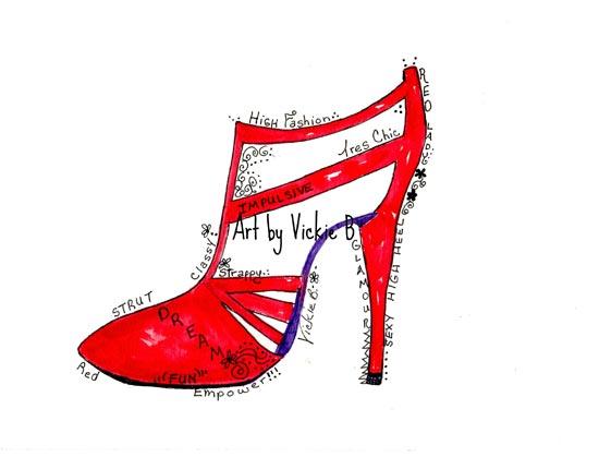 Razzle Dazzle Red Heel