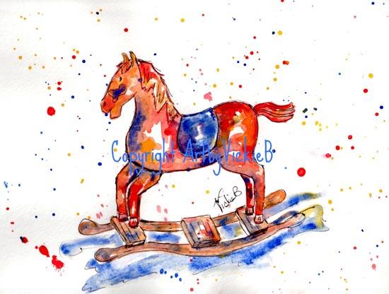 Red Rocking Horse