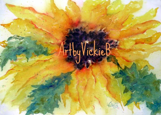 Sunflower in watercolors